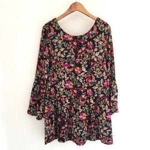 H&M Floral Long-sleeve Dress